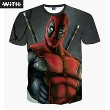 2016 Newest Style Men 3d T-shirt Deadpool T shirt Skull Tattoo Cat Lion Master Roshi Printed Women Tops YZ765