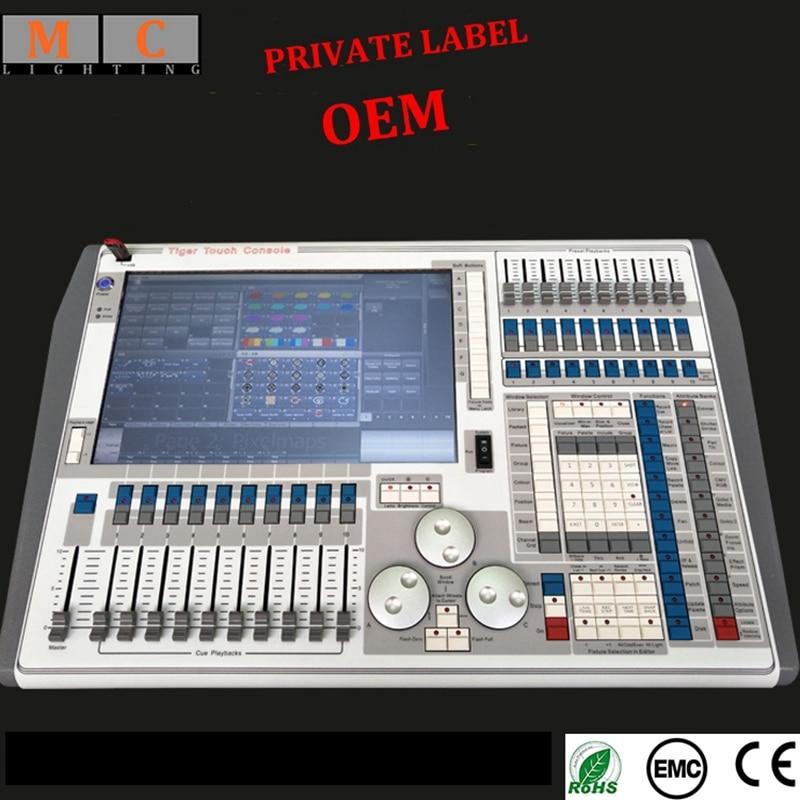 Tiger touch V9.1 V10.1 V11 luz dmx 512 consola con flycase