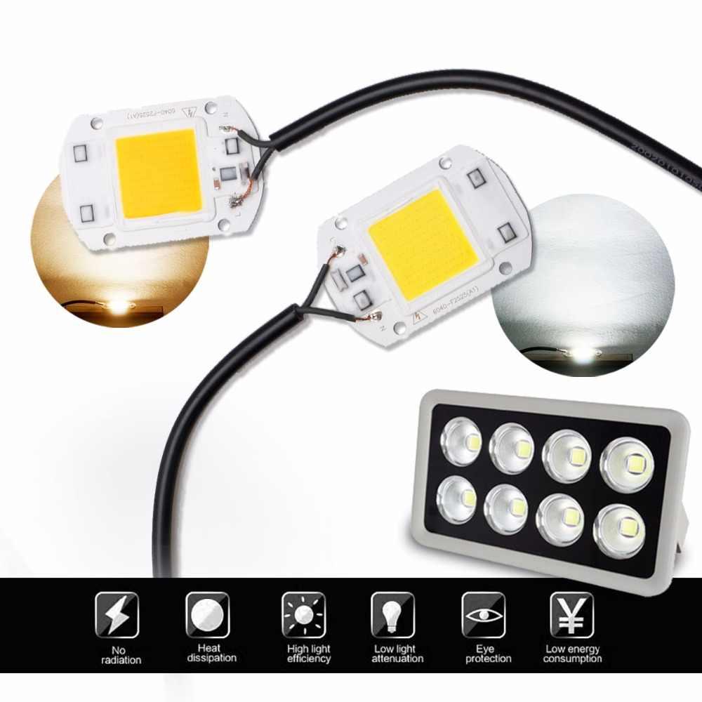 Ic esperto conduziu a lâmpada da microplaqueta da luz da espiga 220 v 110 v 50 w 30 20 10 lúmens altos para o floodight do holofote de diy w/ww