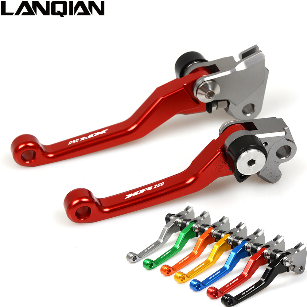 CNC Dirt Bike Pivot Lever For HONDA XR250 1995-2007 Motorcycle Brake Clutch Lever XR 250 1995-2001 2002 2003 2004 2005 2006 2007 new one pair top quality cnc pivot brake clutch levers set for yamaha yz250f 2001 2006 2002 2003 2004 2005 blue