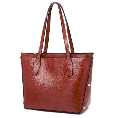 98fb17b616 Grigio Elaborazione Capacità grey Un red Tote Casuale Nuove Borsa Shopping  Disegno Black Sacchetto Donne Bag Grande Di Cuoio ...