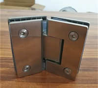 135 Degree Open SUS304 Stainless Steel Hinges Wall Installation Glass Shower Door Hinge For Home Bathroom