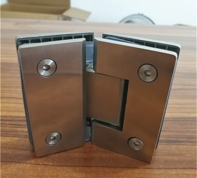 135 Degree Open SUS304 Stainless Steel Hinges Wall installation Glass Shower Door Hinge For Home Bathroom Furniture hinges 1 pair viborg sus304 stainless steel heavy duty self closing invisible spring closer door hinge invisible hinges jv4 gs58b