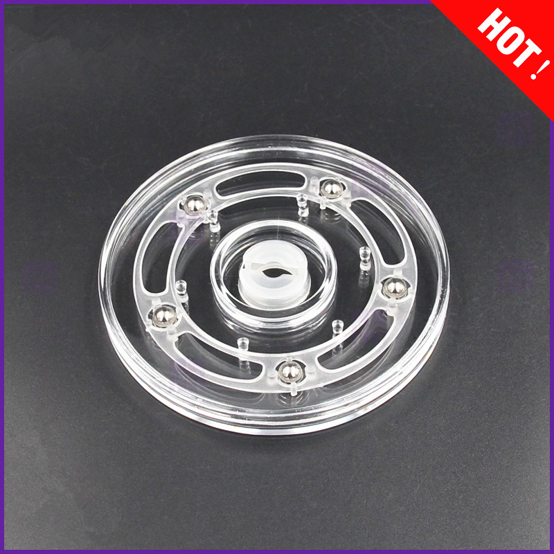 4inch Transparent Acrylic Rotary  Turntable Display Swivel Plate Furniture Parts Rack Rotating Base Swivel Plate