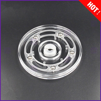 4inch Transparent acrylic rotary  turntable display swivel plate furniture parts rack rotating base swivel plate 1pc 24 inches 58cm big aluminium alloy swivel plate for kitchen furniture lazy susan turntable dining table