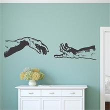 Michelangelo Hands Vinyl Wall Stickers Decor Living Room Wall Decals Artistic Design Hot Selling Wallpaper Poster Mural  SA795