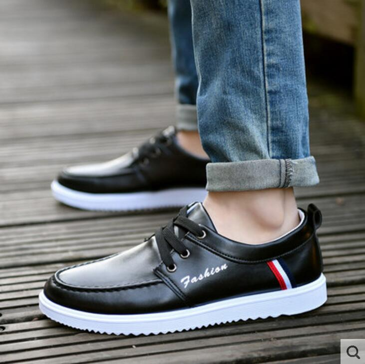 Men shoes 2018 new fashion casual white board shoes men trend of breathable student leather Walking shoes male zapatos hombre