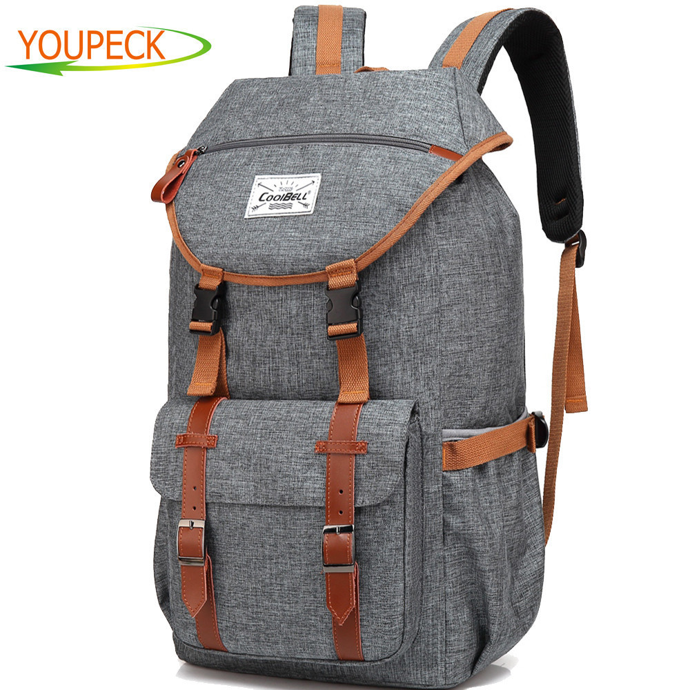38L Travel Backpack Laptop bag 17.3 17 inch notebook bag Rucksack Bag Laptop Case Business bag Hiking Knapsack School Daypack design male leather casual fashion heavy duty travel school university college laptop bag backpack knapsack daypack men 1170g