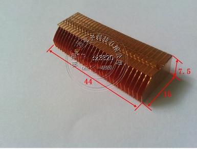 44*15*7.5mm Copper Heat Dissipation Fin Thermal Conductivity Brass Fin Radiator Pipe Copper Heatsink Heat Dissipation Grid Fins