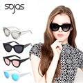 2016 Estilo de la Marca de gafas de Sol de las mujeres con la caja Classic Cat Eye diseñador de Tonos de Moda negro Gafas de Sol de plástico gafas de sol 2939