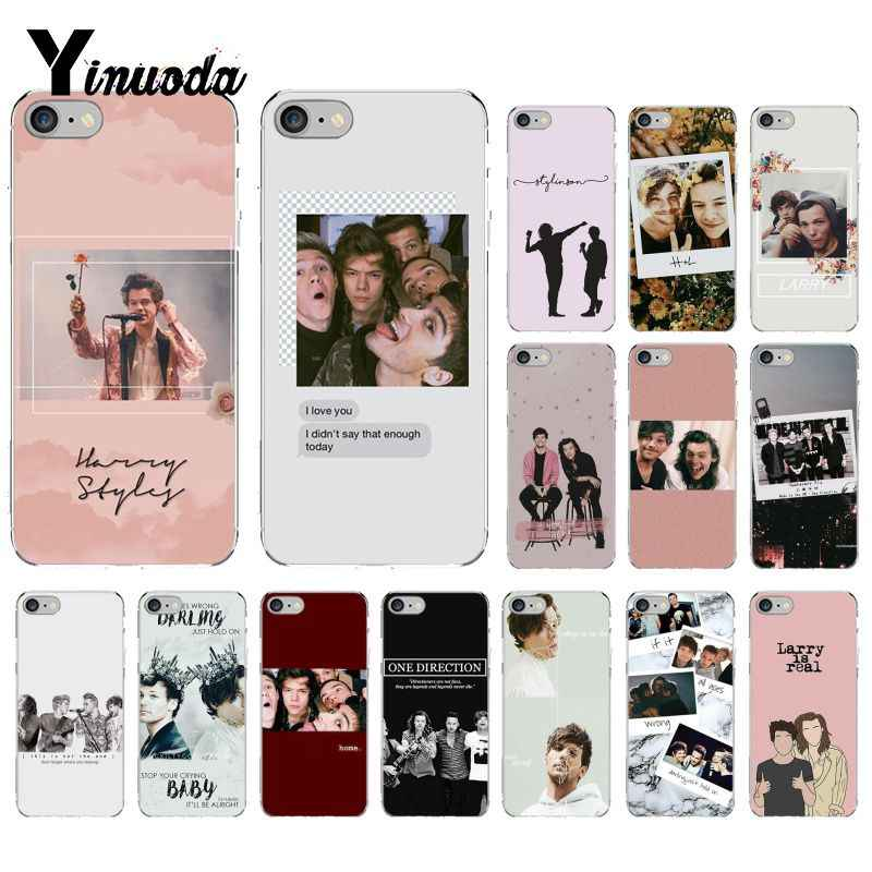 Larry Stylinson Yinuoda TPU Silicone Suave Phone Case para iPhone 5 8 7 6 6 S Plus X XS MAX 5S SE XR 10 Capa