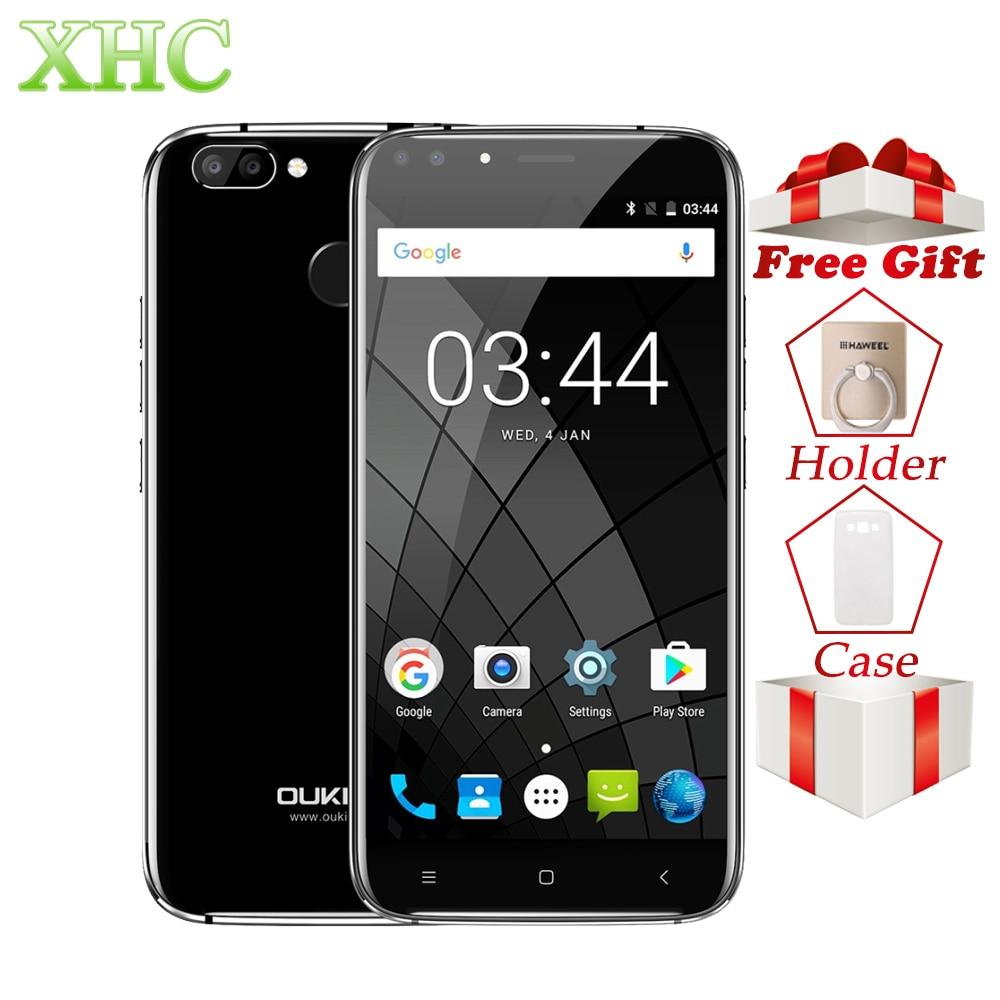 OUKITEL U22 WCDMA 3g 5.5 polegada 2 Smartphones RAM gb ROM gb Android 7.0 MTK6850A 16 Quad Core Impressão Digital ID Telefones Celulares Dual SIM