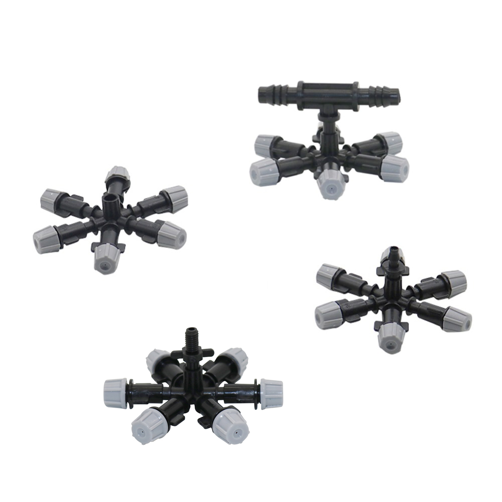 1 Pc Multi-nozzle Gray Sprinkler Garden Greenhouse Irrigation Sprayer Agriculture Tools Water Fogger Cooling Misting Nozzle