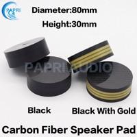 PAPRI Newest 80x30MM Speaker Feet Pad 4K Carbon Fiber Foot Pad For HIFI DIY Audio Amplifier CD Player Turntable 1PCS/lot