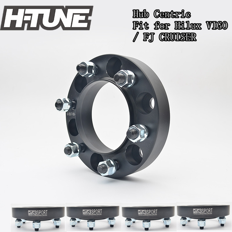 H-TUNE 4pcs Forged Aluminum Hub Centric 6x5.5 106CB 30mm Wheel Spacers Adapters for Hilux Vigo/FJ CRUISER 2 pieces of specialized in the production of wheel adapters wheel spacers 4 x100 suitable for toyota corolla vios and yaris