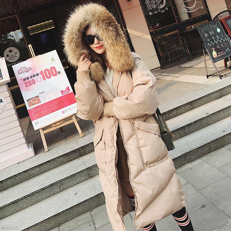Coton Lâche Fourrure 2018 kaki Nouveau Bas Manteau Mode Vers L'ukraine Femmes Coréenne Pain Pardessus Hiver Noir De Chaud Taille Le Plus La Parka Veste Grand Col 4UWp1qf