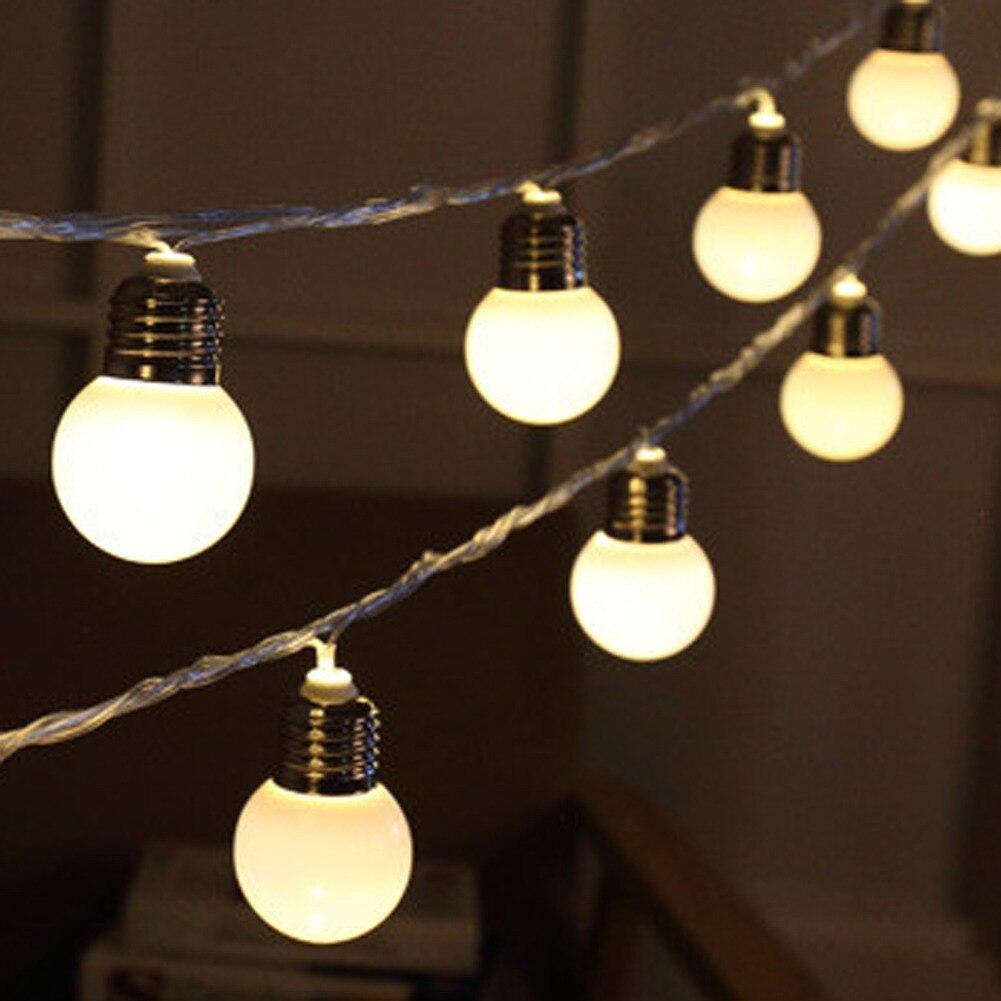 Led Globe String Lights Warm White : 20 LED Globe Connectable Festoon Party Ball String Lighting LED Warm White Christmas Lights ...