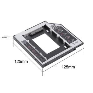 Wholesale 2nd HDD Caddy 9.5mm Aluminum Optibay SATA 3.0 Hard Disk Drive Box Enclosure DVD Adapter 2.5 SSD 2TB For Laptop CD-ROM