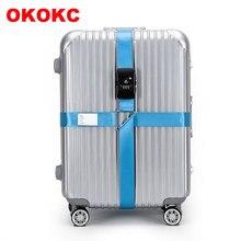 OKOKC 4,2 mt TSA 3 Digit Zoll Passwort LockLuggage Gürtel Einstellbar Reisegepäck für 18-34 zoll koffer