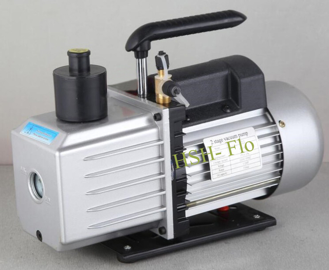 US $181 99 |2 Stage 12CFM Rotary Vane Refrigeration Vacuum Pump 110V/220V  60HZ Dual Voltage HVAC Air AC A/C R410a R134a-in Pumps from Home  Improvement