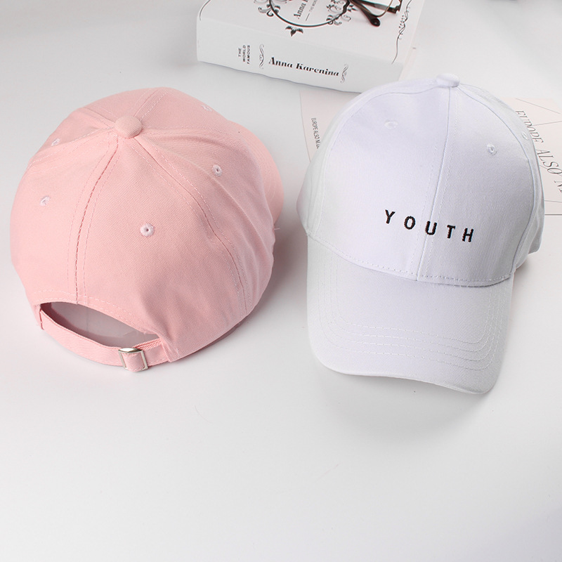 Fashion Summer Cotton Women Men's   Baseball     Caps   Youth Letter Solid Adult Hats Black White Pink Unisex Snapback Casual   Caps   2019