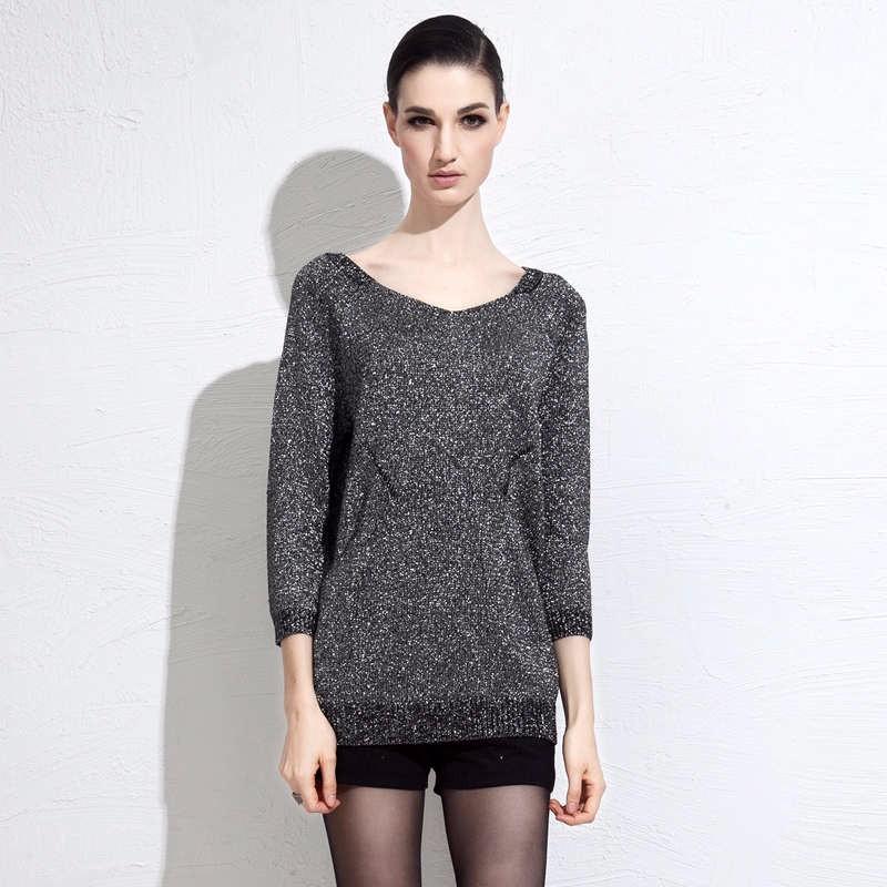 autumn grey women sweater 4