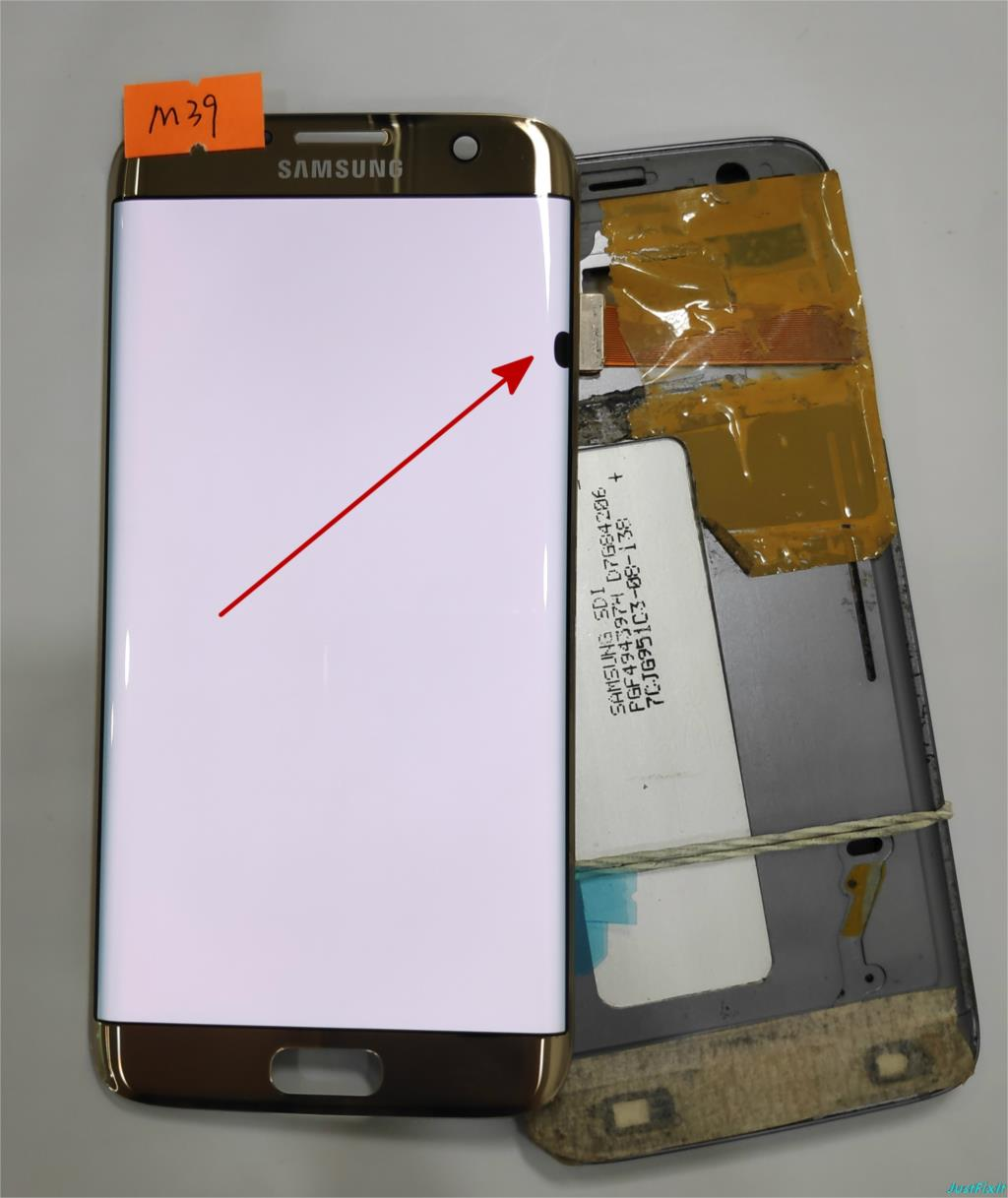 NO M39 Super AMOLED gold for Samsung Galaxy S7 edge G935F G935A G935FD Defect lcd display