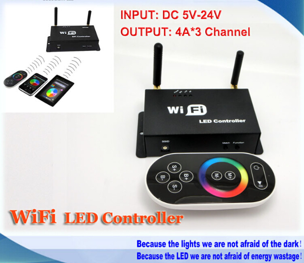 DC5-24V,12v RF WiFi LED Controller, RGB Strip Controller for Android or IOS System controller,with touch panel remote control dc5 24v wireless wifi led rgb controller rgbw controller ir rf remote control ios android for led strip rgb rgbw rgbww