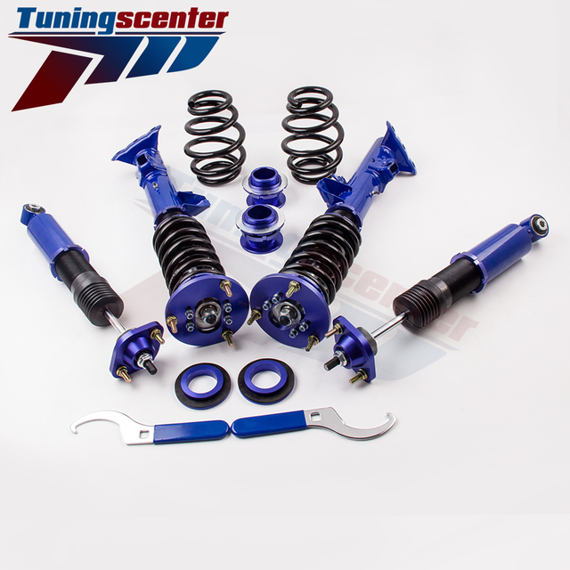 Blue Coilovers Kit for BMW 3 Series E36 318 323 325 Sedan Coupe Shock Absorbers Height Adjustable