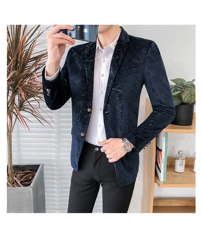 Blazer Masculino Slim Fit Casual Blazers Men Suits Wedding Blazer For Men (10)