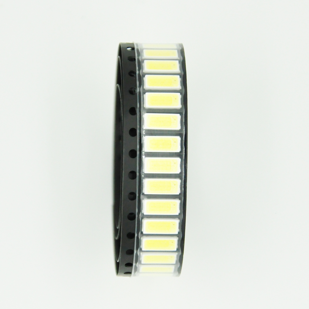 100PCS/ LOT <font><b>LG</b></font> <font><b>LED</b></font> Backlight 1W 7030 6V Cool white TV Application <font><b>smd</b></font> 7030 <font><b>led</b></font> cold white 100-110lm 7.0*3.0*0.8mm image