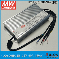 Original MEANWELL LED Driver HLG 600H 12B 600W 40A 12V Dimming Driver IP67 Waterproof Meanwell LED