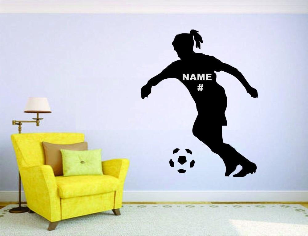 soccer wall mural vinyl decal sticker decor girl sport football