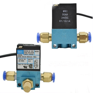 """Image 4 - 1/8"""" DC12V 5.4W Mac 35A Type High Frequency Solenoid Valve 35A ACA DDBA 1BA for Dispenser Marking Dispensing Machine"""