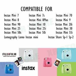 Image 5 - Fujifilm Instax מיני סרט לבן קצה 20 גיליונות/חבילות נייר צילום פוג י מיידי מצלמה 11 9 8 7s 25 50 90 sp 1 2 עם חבילה