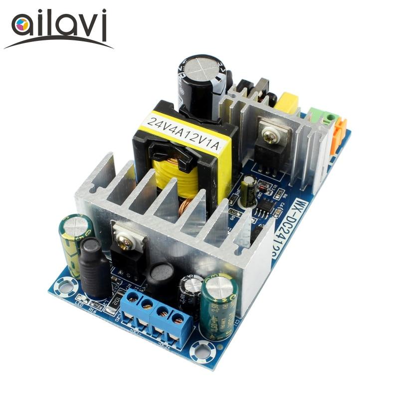 24V4A 12V1A 120W Dual Output 24V4Switching Power Supply Module AC90-265V 110V 220V Input To DC 24V 12V Power Adapter Bare Board 24v switching power supply board 4a 6a power supply module bare board