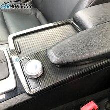 Carmonsons для Mercedes Benz C Class W204 2008-2014 LHD C180 C200 C260 консоли стикер на подлокотник крышка автомобильные аксессуары для укладки