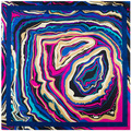 Fashion New 100% Women Silk Scarf Geometric Whirlpool Wave Abstract Paint Scarves Headscarf Silk Square Scarf Wrap for Women