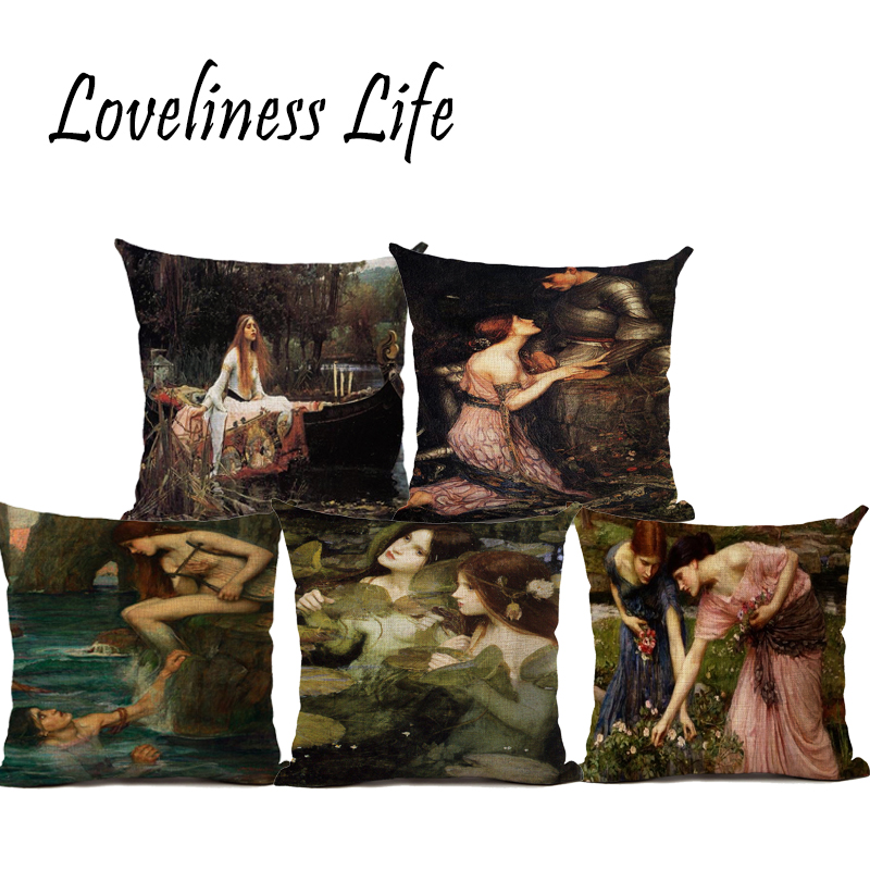 Personalised Oil Painting PortraitCushion Covers Cotton Linen Custom Decorative Cushion Throw Pillow Case Covers Car Seat Cojine