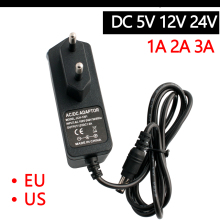 AC-DC 110-240V Power Supply 5V 12V 24V 1A 2A 3A  Universal Adaptor 5.5MM*2.5MM EU US DC 5 12 FOR LED Strip