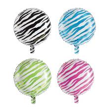 18inch Stripe Round Balloons Gold Aluminium Foil Balloon Birthday Party Decorations Kids Individually Packaged Wholesale