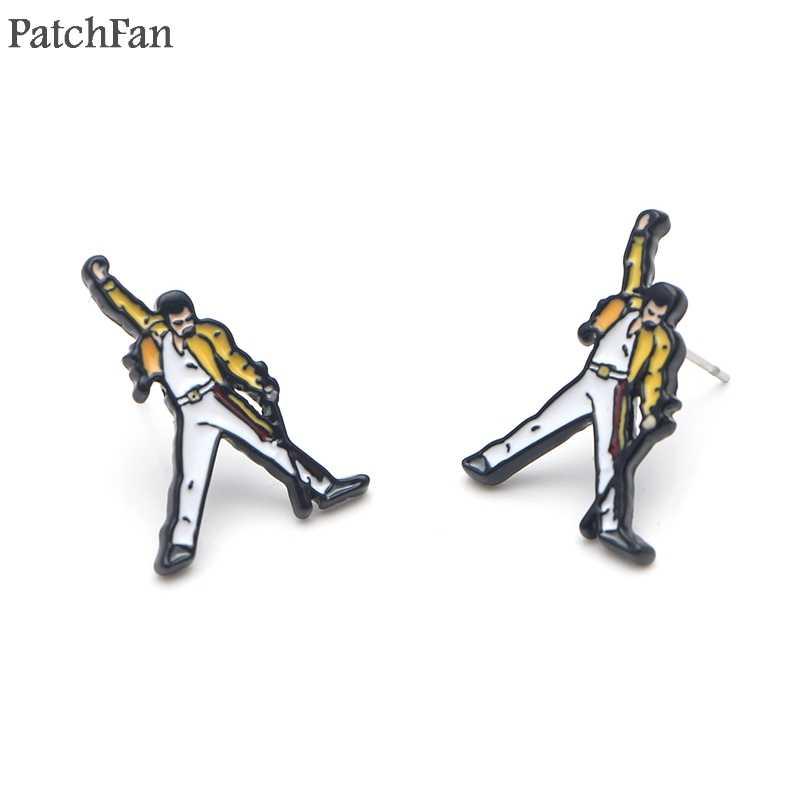 Patchfan Freddie Mercury Cantante classic design orecchini Delle Viti Prigioniere favori di partito gioielli regali fidanzata per regali di compleanno A1845