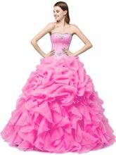 Женское бальное платье с бисером розовое 16 лет qa1381 2019