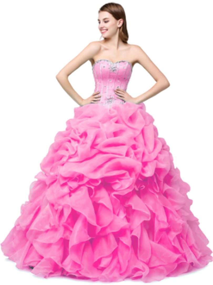 Bealegantom Stock Sweetheart Pink Yellow Quinceanera Dresses 2019 Ball Gown Beaded Sweet 16 Dress Vestidos De 15 Anos QA1381