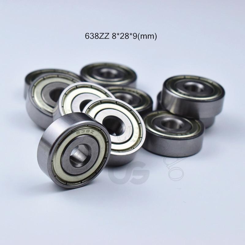 638ZZ 8*28*9(mm  9pcs bearing Metal Sealed Miniature Mini Bearing free shipping 638 638Z 638 ZZ chrome steel deep groove bearing