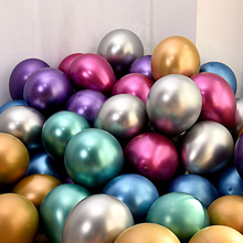 30pcs 12inch Gold Silver Black Metal Latex Balloons Wedding Decorations Matte Helium Globos Birthday Party Decoration Adult