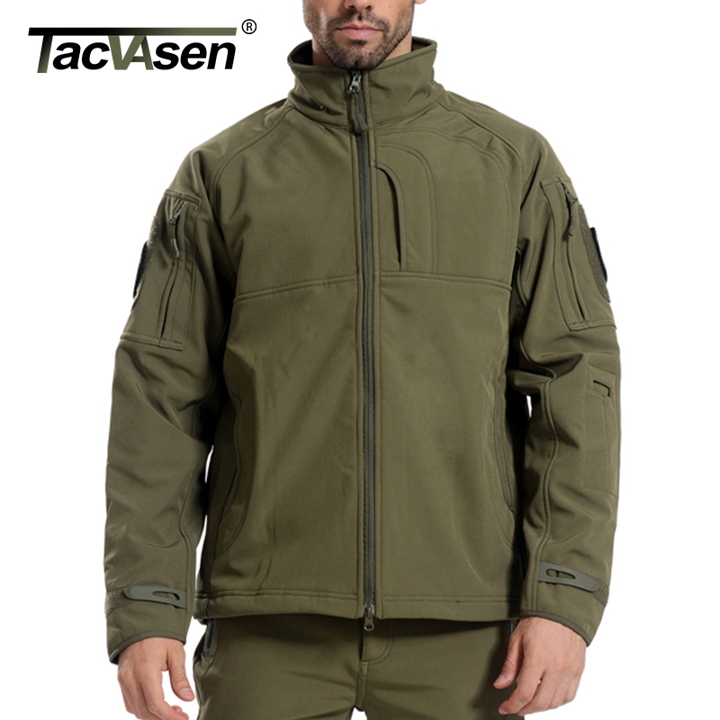 TACVASEN Man Brand Clothing Soft Shell Tactical Jacket Army Military Jackets Windproof Outerwear fleece lining Coat TD-JLHS-008 lurker shark skin soft shell v4 military tactical jacket men waterproof windproof warm coat camouflage hooded camo army clothing