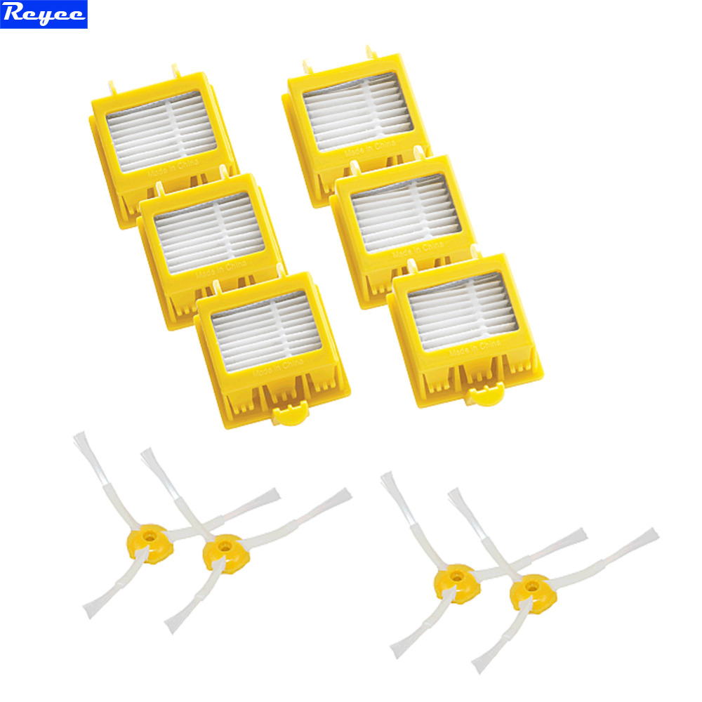Details about  6pcs Hepa Type Filter + 4pcs 3-Armed Side Brush for iRobot Roomba 700 Series 760 770 780 Vacuum Cleaning Robots 3 armed side brush 6 armed side brush 6 hepa filters for irobot roomba 700 series 760 770 780 790 vacuum cleaning robots