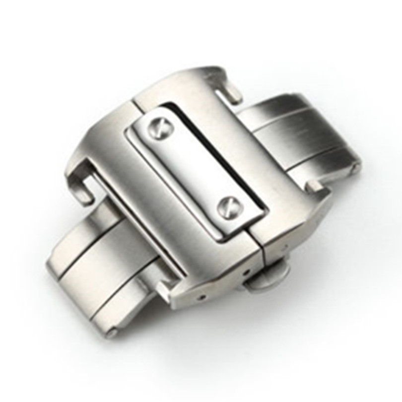 18mm 21mm Stainless Steel Deployant Clasp Buckle for Santos 100 Watch Band Strap