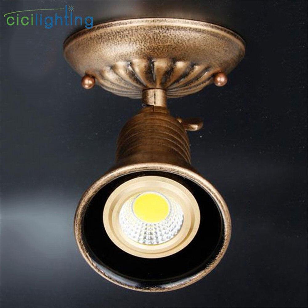 Industrial LED Spot Lamp Vintage E27 Ceiling Light Rustic track light Loft home store shop surface mounted led rail lighting luz